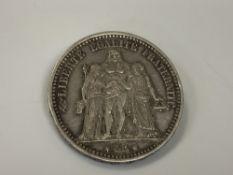 An 1873 5 Francs