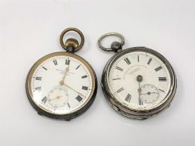 A silver pocket watch by Graves, Sheffield,