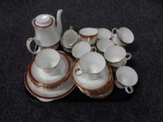 A tray containing 45 pieces of Royal Grafton Majestic and similar Duchess Winchester tea china