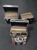 Three cases containing vinyl LPs to include Compilations, Easy Listening, etc.