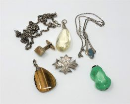 A group of silver jewellery