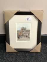 After Tom MacDonald : Newcastle University, reproduction in colours, signed in pencil,