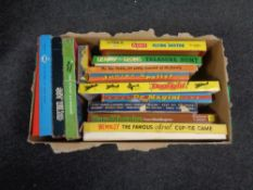 A box containing vintage board games to include Wembley, Flying Doctor, Wells Fargo, etc.
