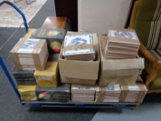 A large quantity of ceramic wall tiles.