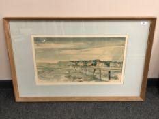 James Bowman (20th century), Gullane, Scotland, watercolour, signed in pencil lower-left.