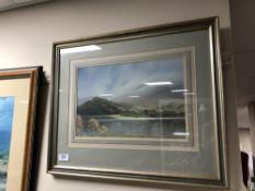 Peter Shutt : First Mist of Autumn, gouache, signed, 23 cm x 35 cm, framed.