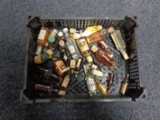 A basket of alcohol miniatures