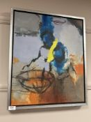 Benjamin Torgal Torres : Abstract study, oil on canvas, 55 cm x 46 cm, Rasmus Gallery label verso,