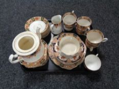 A tray of antique Phoenix and other tea china, approx.
