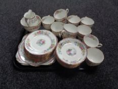 A tray containing approximately 40 pieces of Royal Grafton bone china tea china.