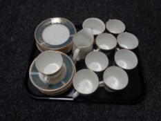 A tray of approximately 27 pieces of Elizabethan Lucerne tea china