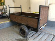 A single-axle general purpose road trailer, with light board, with jockey wheel,