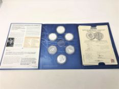 A Battle of Britain 80th Anniversary folder of coins (one missing)