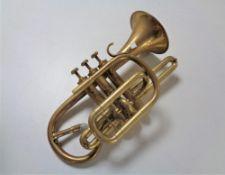 A brass cornet