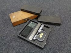 Four cased micrometers