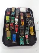 A box of die cast cars,