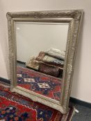 A silvered Victorian style mirror,