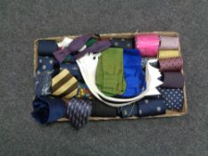 A tray of assorted ties,