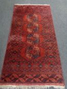 A Bokhara rug, Afghanistan,