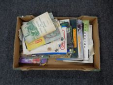 A box containing Hornby,