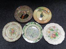 Five Royal Doulton cabinet plates,