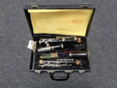 A four piece clarinet in fitted case