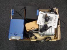 A box of micro hifi, Roberts radio,