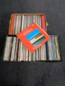 Four plastic record cases and a box containing assorted LPs to include Nana Mouskouri,