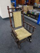 An Edwardian American style child's rocking chair.