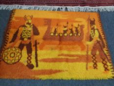 A modern rug,