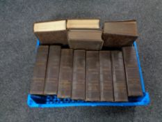 A box of twelve Oldham Press Dickens volumes
