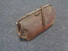 A vintage leather doctor's bag