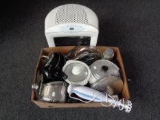 A Whirlpool Maxio microwave,