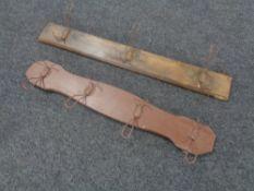 Two antique coat racks
