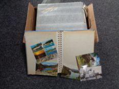 Five albums of twentieth century postcards