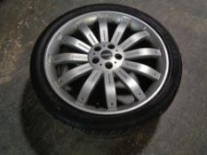 A pair of Overfinch bespoke vehicles alloy wheels with Landsale tyres
