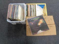 Three boxes of LP's