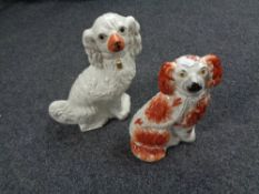 Two Spaniel figures