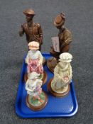 A tray of two Austin Sculptures figures - St.