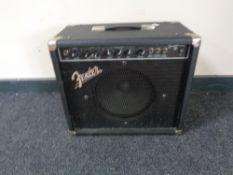 A Fender Frontman 25R guitar amplifier.