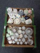 Two boxes of a quantity of English tea china