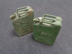 Two 20 litre jerry cans