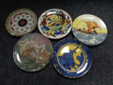 Five Royal Doulton cabinet plates, George and the Dragon,
