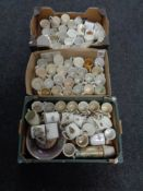 Three boxes containing a large quantity of commemorative china
