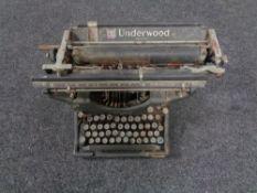 A vintage Underwood typewriter.