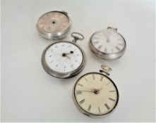 Four nineteenth century pocket watches, pair cased example etc.