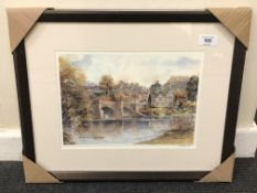 After Tom MacDonald : The Bridge at Corbridge, reproduction in colours, signed in pencil,