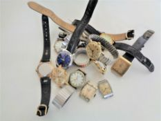 A large quantity of wrist watches (for restoration), Rotary, Solo etc.