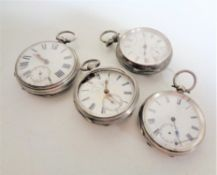 Four silver pocket watches - John Forrest,