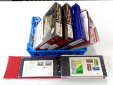 Five albums of stamps - Guernsey & Jersey, mint and fine, Commemoratives etc.